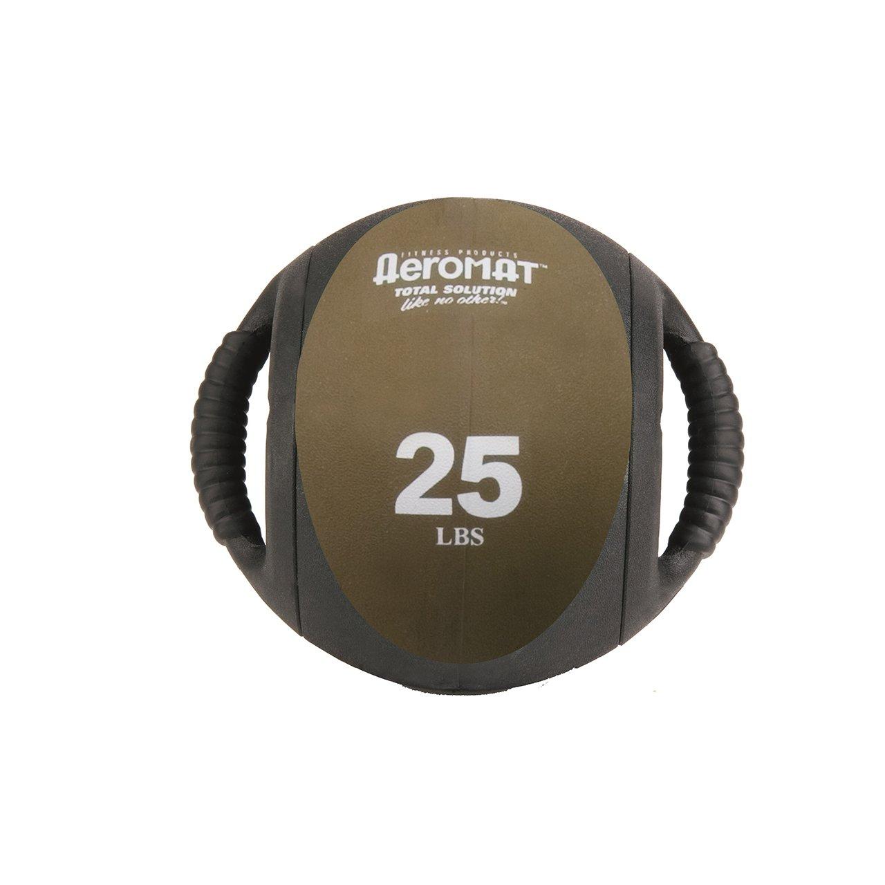 Aeromat Dual Grip Power Medicine Ball, 9cm/25-Pound, Black/Bronze