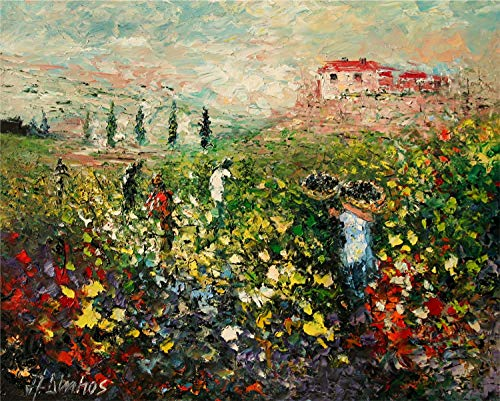 - Time for Harvest - Tuscany Italy vineyard by internationally renown painter Andre Dluhos