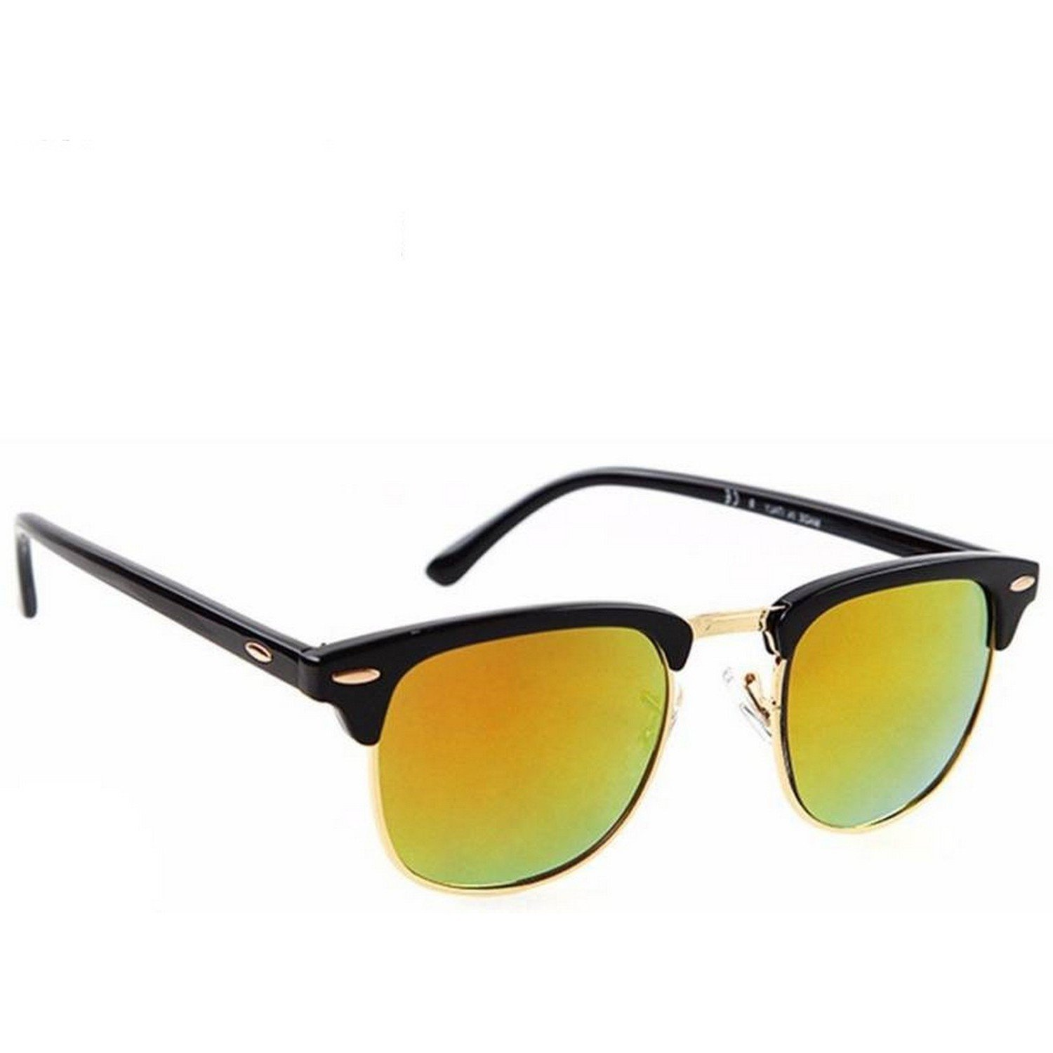 d760bcc3042 Dervin Black Golden Frame Yellow Shade Wayfarer Sunglasses for Men   Women   Amazon.in  Clothing   Accessories