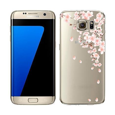 YSIMEE para Carcasa Samsung Galaxy S7 Edge,Xmas Decoración ...