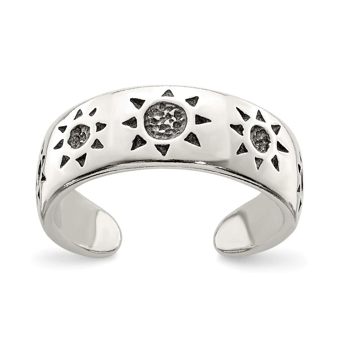 925 Sterling Silver Sun Adjustable Cute Toe Ring Set Fine Jewelry Gifts For Women For Her IceCarats 8146794955208537314