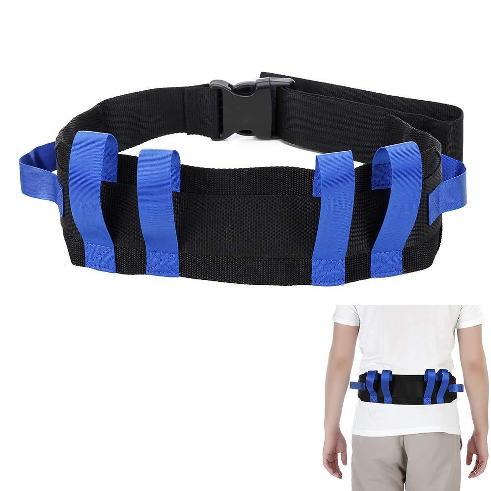 Transfer Gait Belt Patient Walking Safety Lift Sling Medical Slide Board Wheelchair & Bed Transport Physical Therapy Nursing Assistant Gate Belts for Seniors, Bariatric, Elderly (Blue)