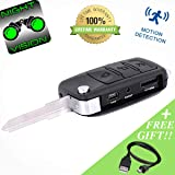 Spy Camera Car Key [Night Vision Hidden Cam] Nanny Home Cameras Audio - Motion Detection Wireless Surveillance Recorder Equipment - HD Mini Camcorder Wireless Security Monitoring Systems