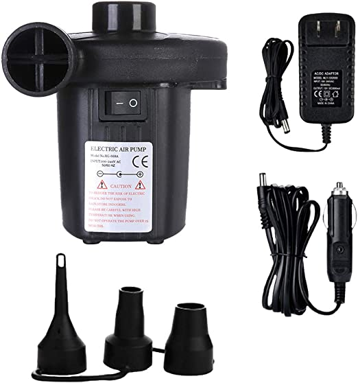 Electric Air Pump Inflator for Inflatables Camping Bed pool 240V 12V Car Home!