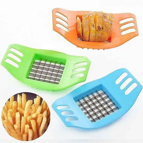Flypv Cortador de rebanado de patata de vegetales de acero inoxidable Rebanadoras de corte Dispositivo de papas fritas