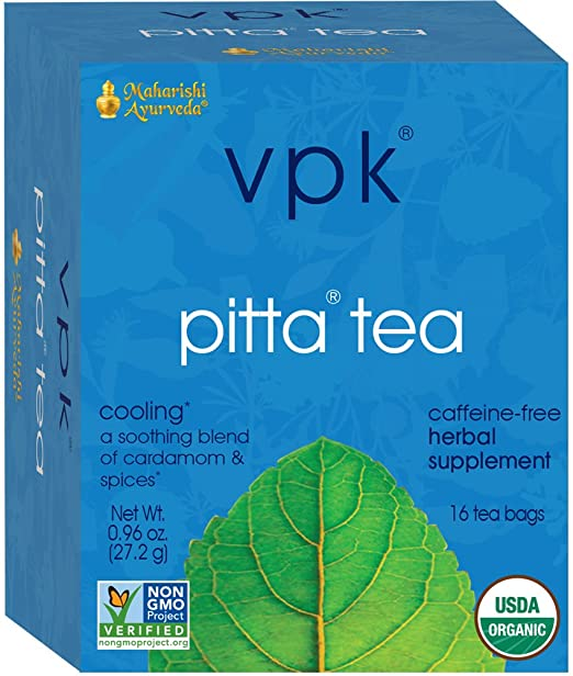 Maharishi Ayurveda Organic Soothing Pitta Herbal Tea 16 Tea Bags, .96 oz (27.2 g)