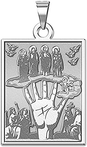 PicturesOnGold.com Jesus Mary Joseph Religious Medal 10K And14K Yellow or White Gold or Sterling Silver