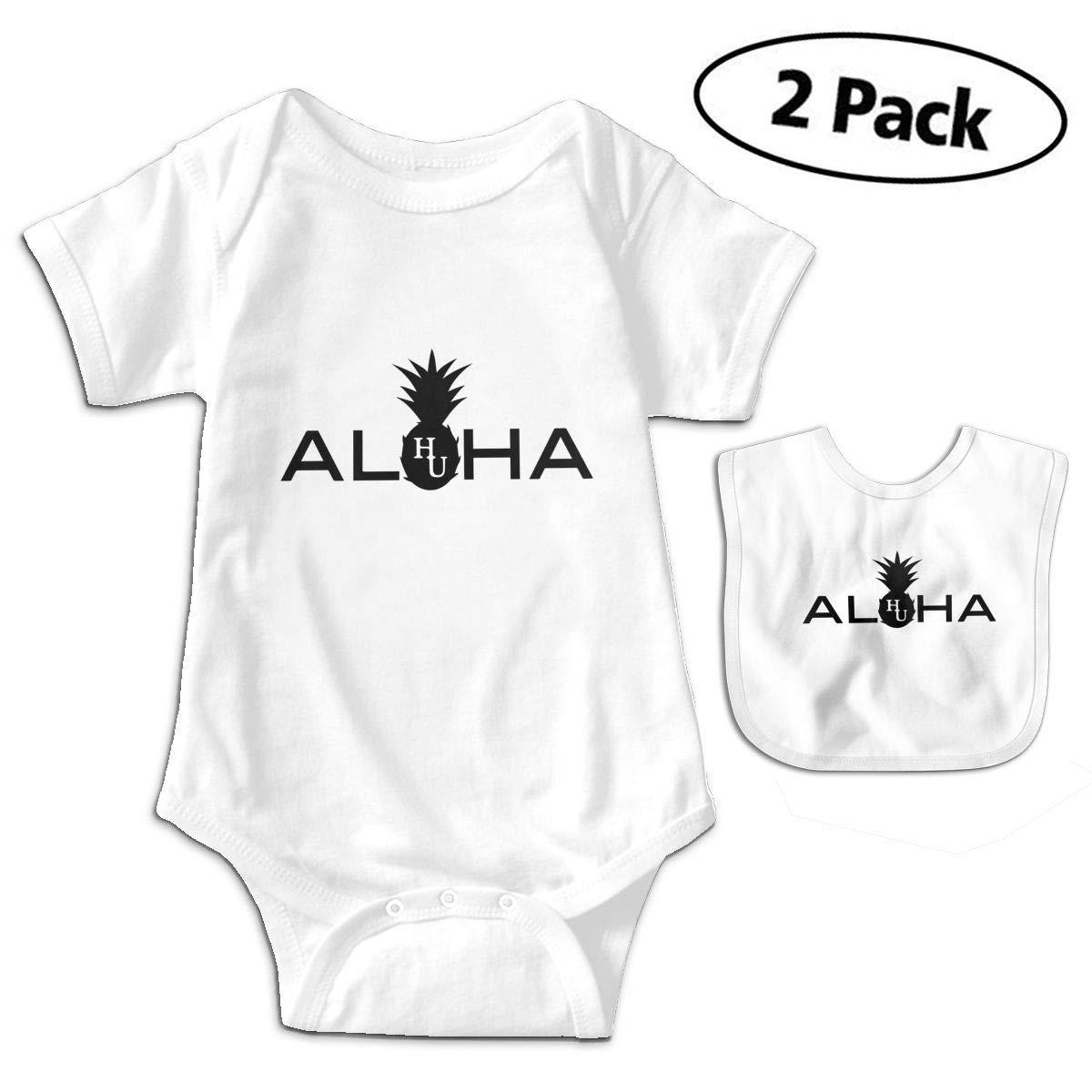 Hawaii Unchained Aloha Infant Baby Short Sleeve Romper Jumpsuit Bodysuit