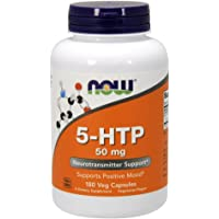 NOW 5-htp 50mg, Capsules, 180 Veg Capsules