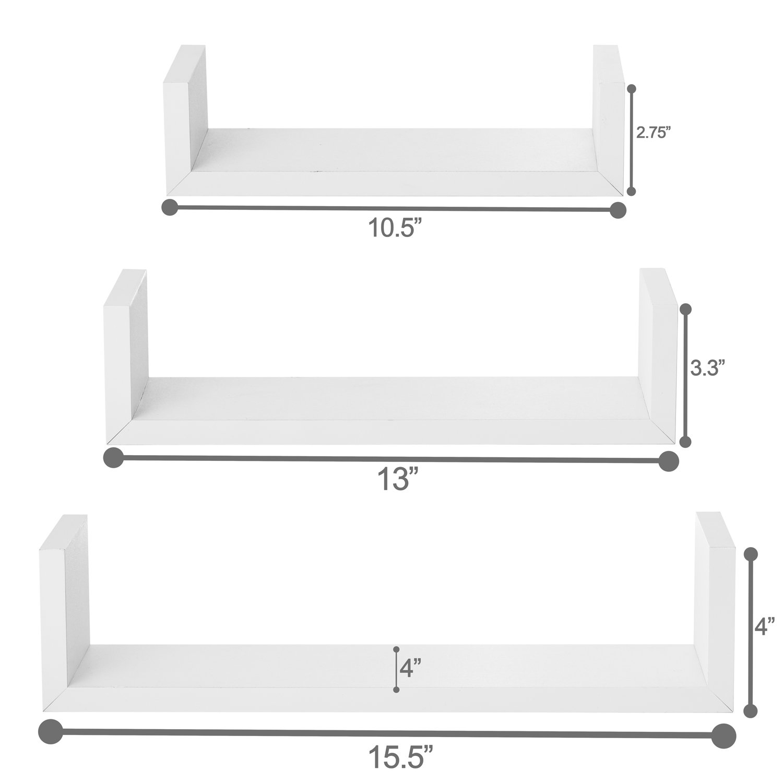 Halter Wall Shelves Set of 3 U Shaped Floating Shelves AX-AY-ABHI-86091
