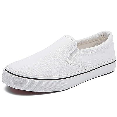 Women's Canvas Slip On Sneakers Fashion Flats Shoes White Canvas Shoes | Fashion Sneakers