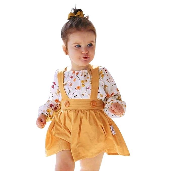 NiñA Invierno Conjuntos Ropa Toddler Baby Girl Floral Print Romper Tops + Tutu Faldas Trajes Conjunto