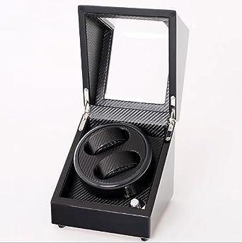 Watch Winder,Cajas giratorias para Relojes 2 + 0 Ereistómetro de Fibra de Carbono Negro Caja de Cuerda automática Caja de oscilación del Reloj mecánico Caja giratoria Reloj devanadera: Amazon.es: Relojes