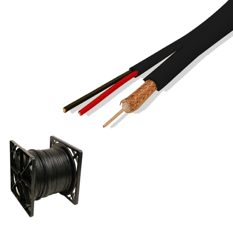 Amazon.com: 500 Ft Rg59 Siamese Cable Cctv Video Power 95% Black ...