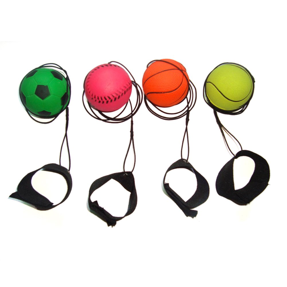 Nightzone light up rebound ball - Amazon Com Gogo Bouncy Wrist Band Ball Pack Of 6 Assorted For Wrist Exercise Sports Outdoors