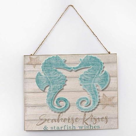 Sea Horse wreath attachment  Seahorse wreath sign Seahorse wood sign