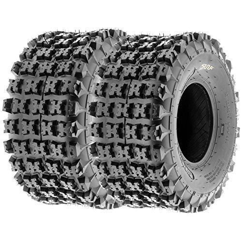SunF 22x7-11 & 20x10-9 Knobby Sport ATV Tires 6 PR A027 (Full set of 4) by SunF (Image #3)