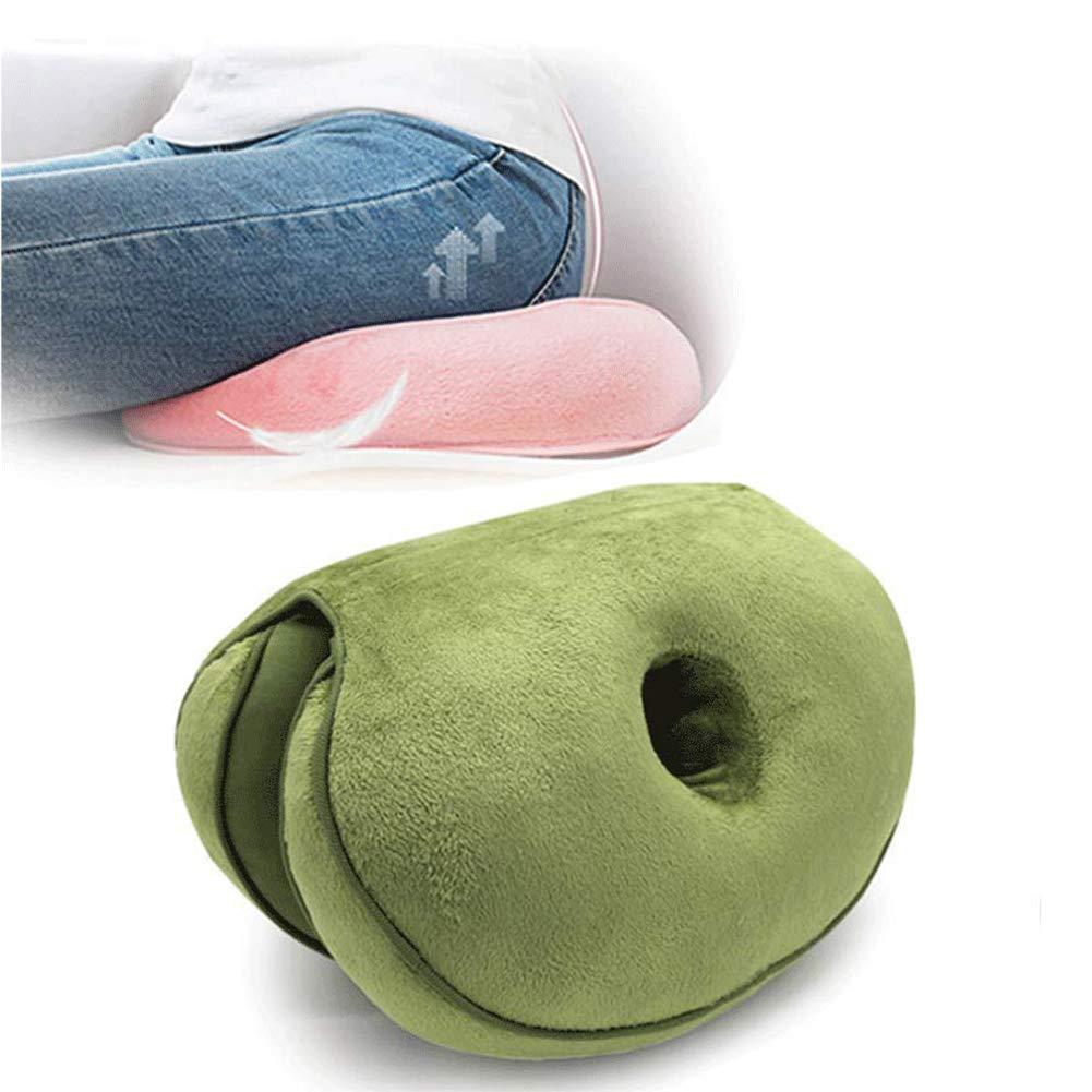 coj/ín ortop/édico de Espuma viscoel/ástica para El Dolor de ci/ática Azul Hueso de la Cola y cadera: alivio de la presi/ón en la espalda Dual Comfort Cushion Lift Hips Up Coj/ín del asiento