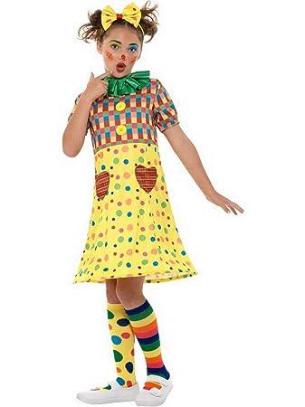 Halloweenia Madchen Kinder Zirkus Clown Kostum Mit Reif Kleid