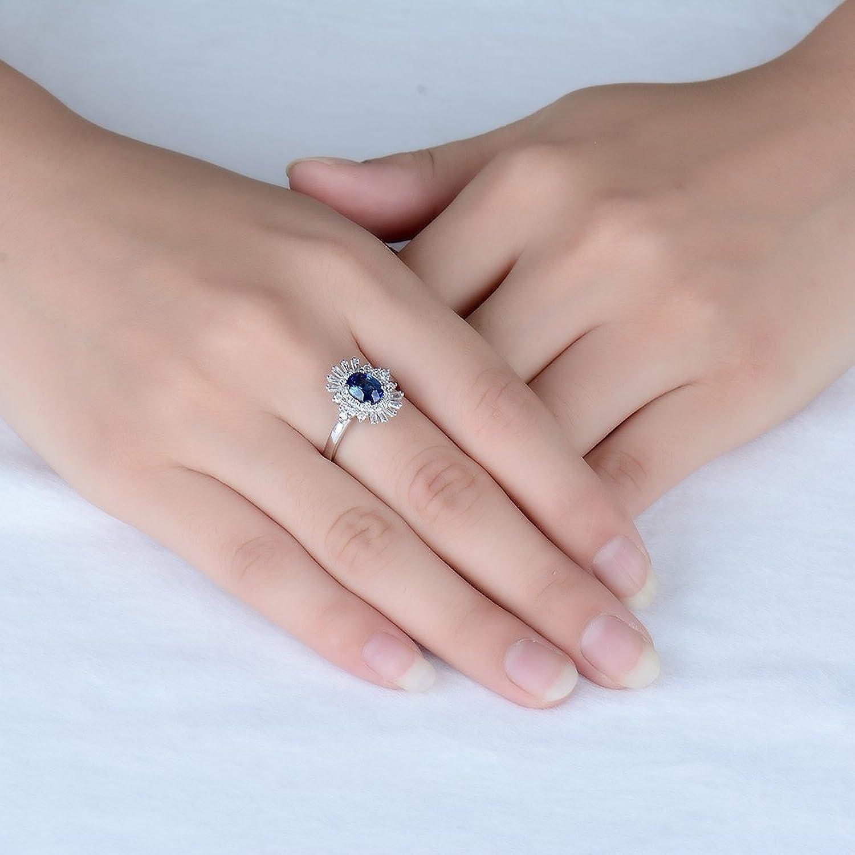 Amazon.com: Purity Ring for Teen Girls Blue Sapphire Wedding ...