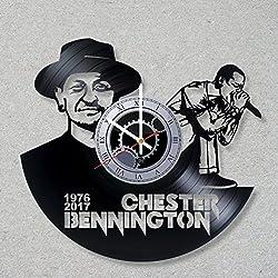 Vinyl Record Wall Clock Linkin Park Music Rock Bennington Hybrid Theory Numb Chester decor unique gift ideas for friends him her boys girls World Art Design