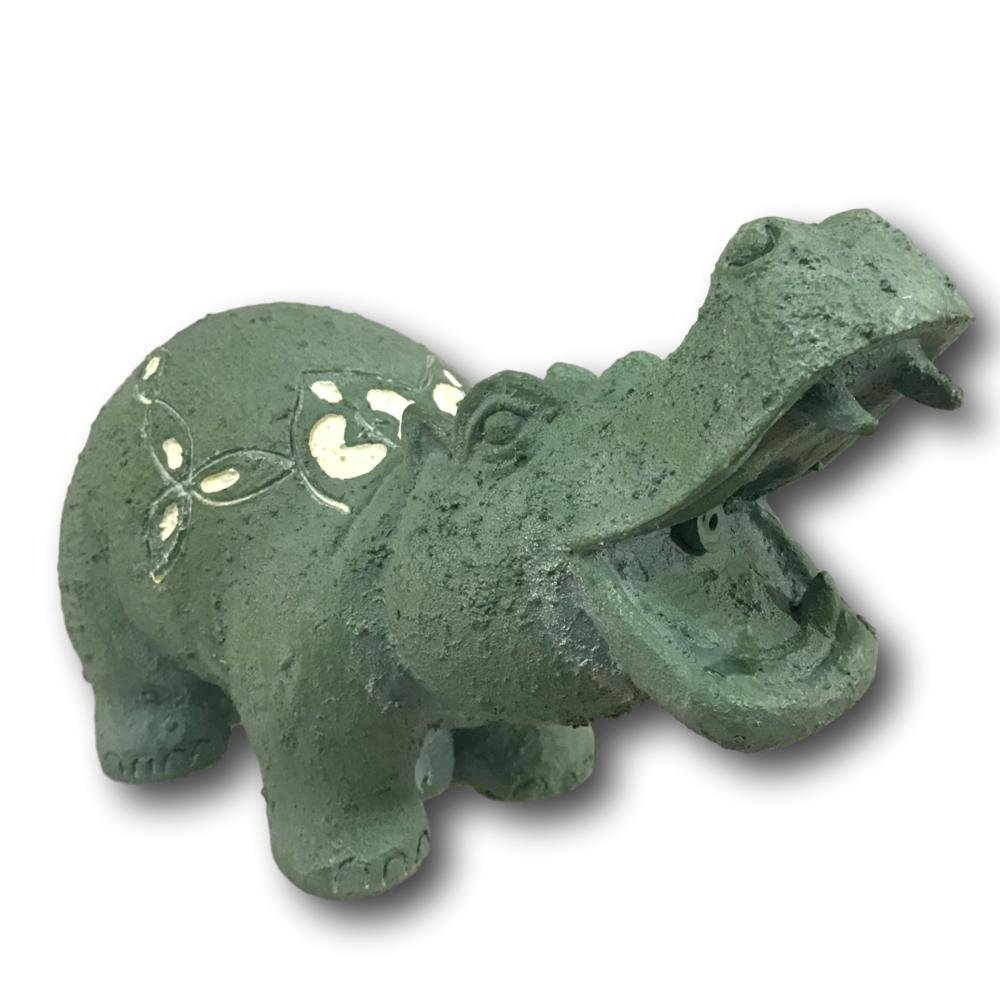 TotalPond Hippo Pond Fountain Spitter 8 Inches Green