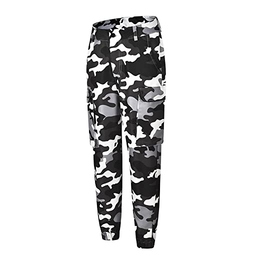 4ed6d4d627b9a PASHY Fashion Yoga Pants for Women, Womens Camo Cargo Trousers Casual Pants  Military Army Combat