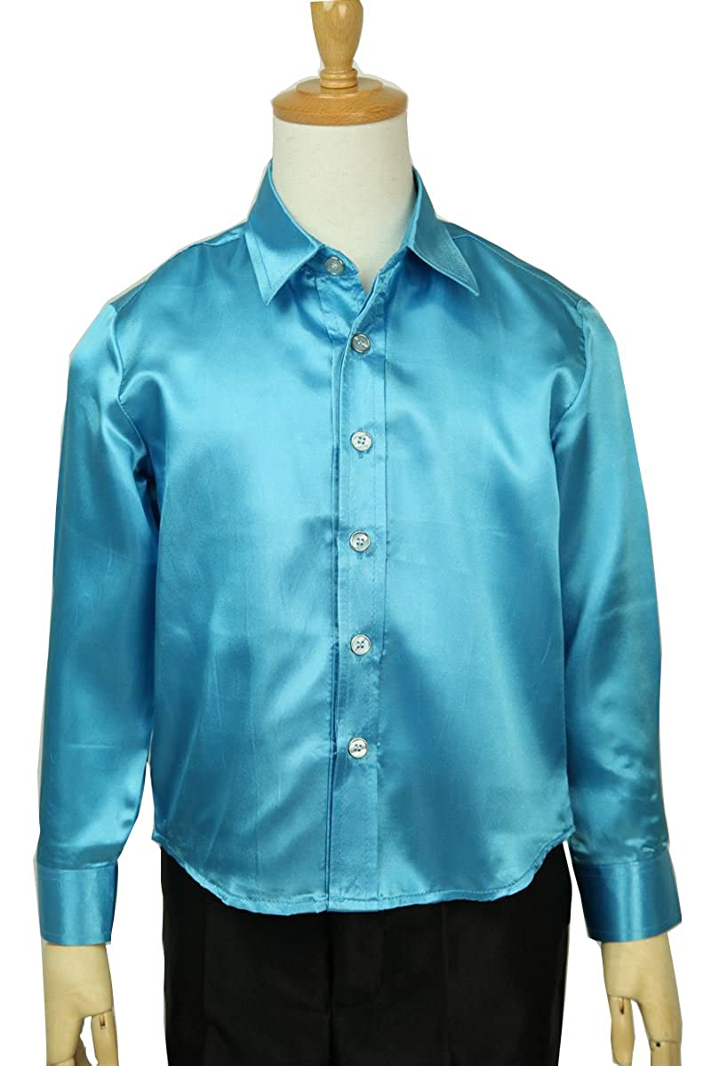 Wonder Stage Kids Satin Silk Like Shirts Long Sleeve 12color