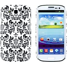 Black Flower Embossed Slim Fit Hard Case for Samsung Galaxy S3 (AT&T, T-Mobile, Sprint, Verizon, US Cellular, International) [Retail Packaging by DandyCase with FREE Keychain LCD Screen Cleaner]