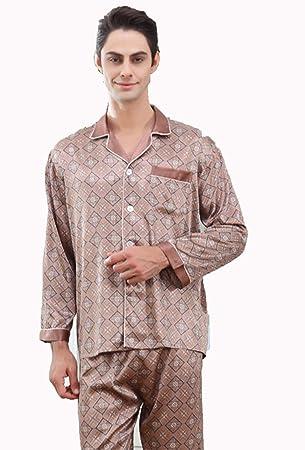 Hxp Pijamas De Manga Larga De Los Hombres con Trajes De Dormir De Alta Calidad,
