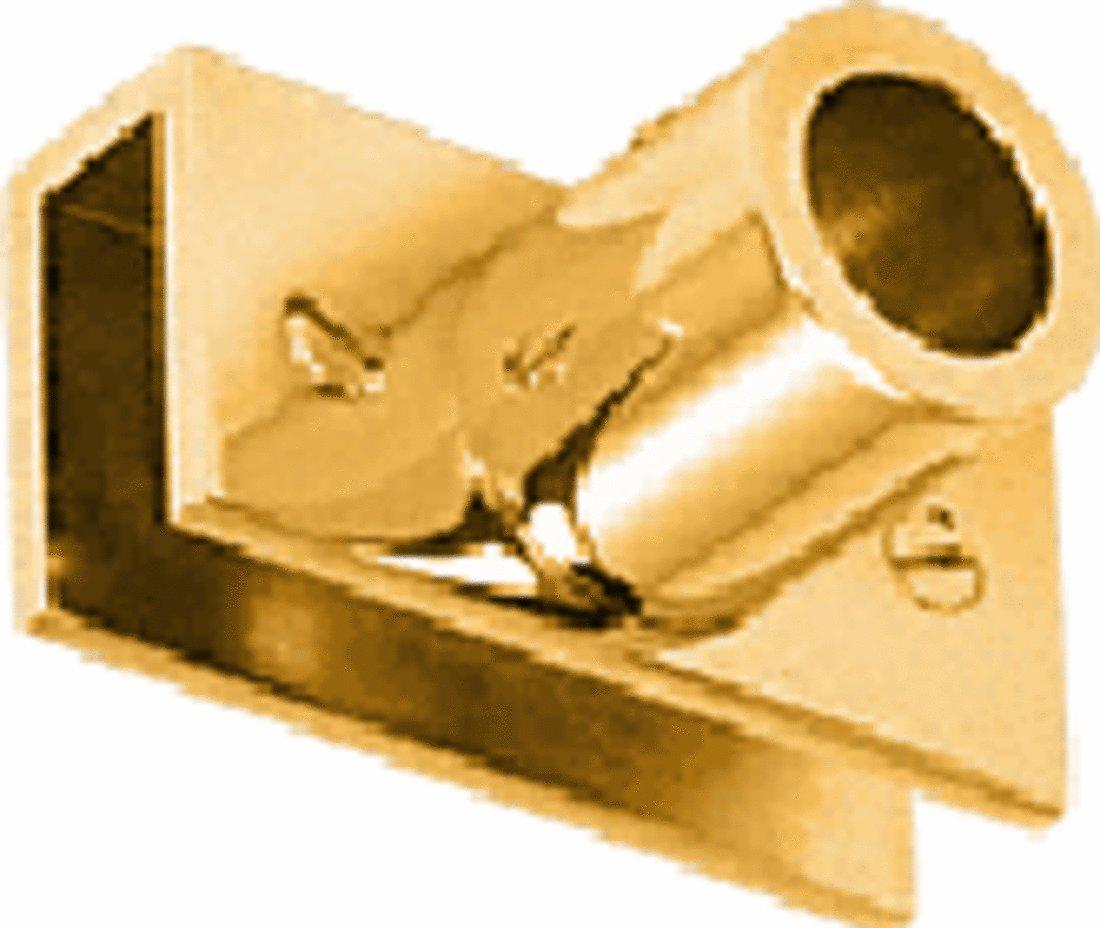 C.R. LAURENCE S13GP CRL Gold Plated Adjustable Slim Line Glass Mount Fitting