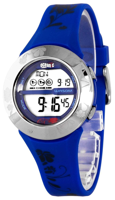 Lindo Deportivo Reloj Oceanic,Vidrio Acrylic,Hora mundial - 36 zonas de tiempo,Cronómetro,Resistente al agua 100m, OC2510M/3: Amazon.es: Relojes