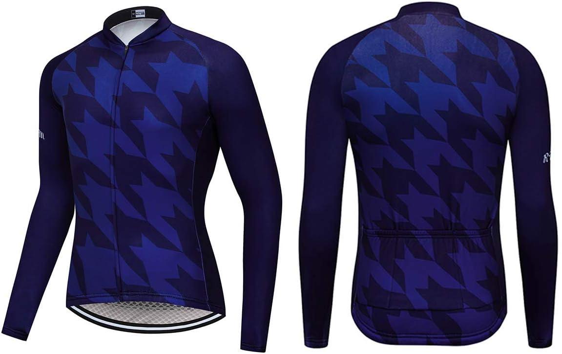 RUIKODOM Camiseta de Ciclismo Primavera y oto/ño Ropa de Ciclismo Deportes al Aire Libre de Manga Larga