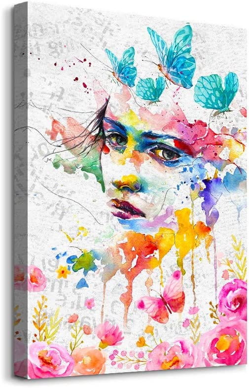 Canvas Wall Art for Bedroom family Wall decor abstract girl paintings modern Farmhouse bathroom Decoration office pictures Artwork for home walls Girls room for Girls Women Canvas art Decoration
