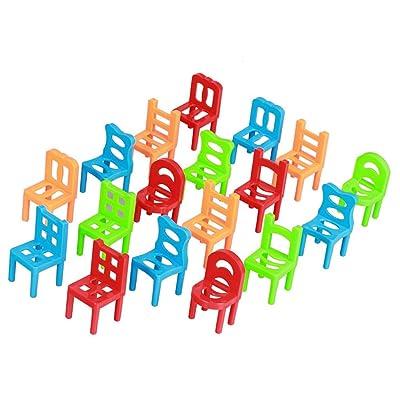 18 Piezas Juegos de Aprendizaje Equilibrio Sillas Apilables Cabrito Plástico: Juguetes y juegos