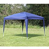 Palm Springs 10 x 10 EZ POP UP BLUE Canopy New Gazebo NO Sidewalls, Outdoor Stuffs