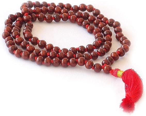 HealthAndYoga(TM) Mala Beads - Rose Wood
