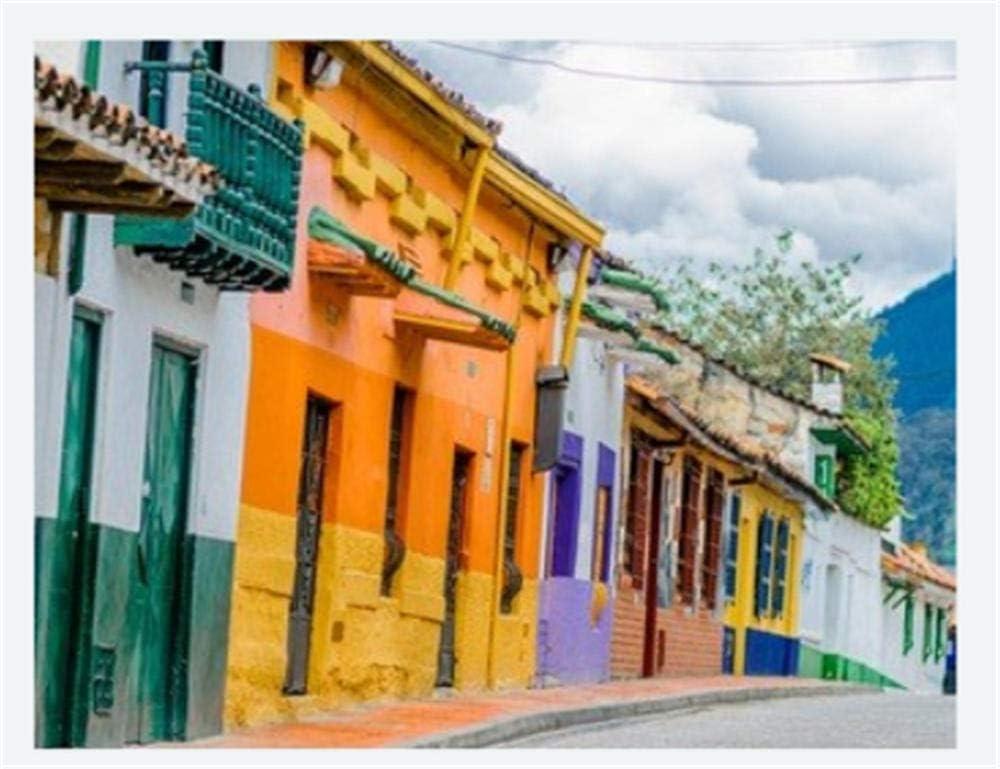 Rompecabezas De 1000 Piezas Hobbit Calle De Edificios Colorfoul En El Casco Antiguo Colonial La Candelaria En Bogotá Hobby Decoración del Hogar Bricolaje
