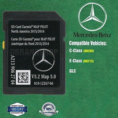 SD Card Garmin Map Pilot 2018 North America Mercedes-Benz Navigation A2139062704
