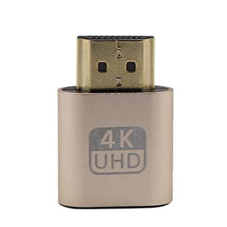 Funnyrunstore HDMI Dummy Plug Adaptador de Pantalla Virtual ...