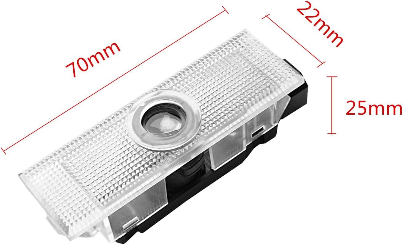 For 4 W203-2 ZTMYZFSL 4 St/ücke Auto Logo Projektion Projektor T/ür geister Shadow Light Willkommen Lampe Licht