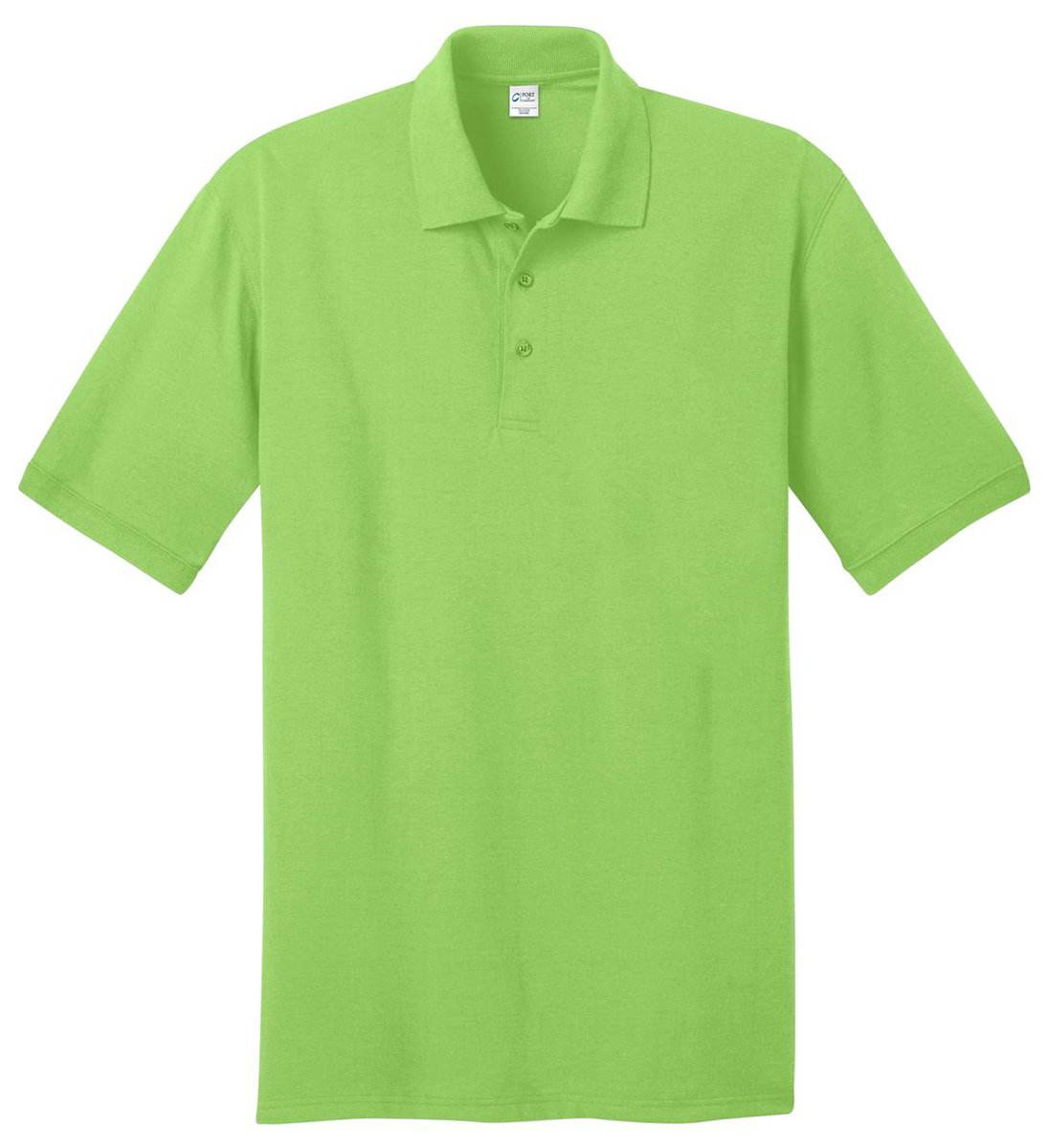 Port & Company Men's Big And Tall Knit Polo Jersey 3X Tall- Lime