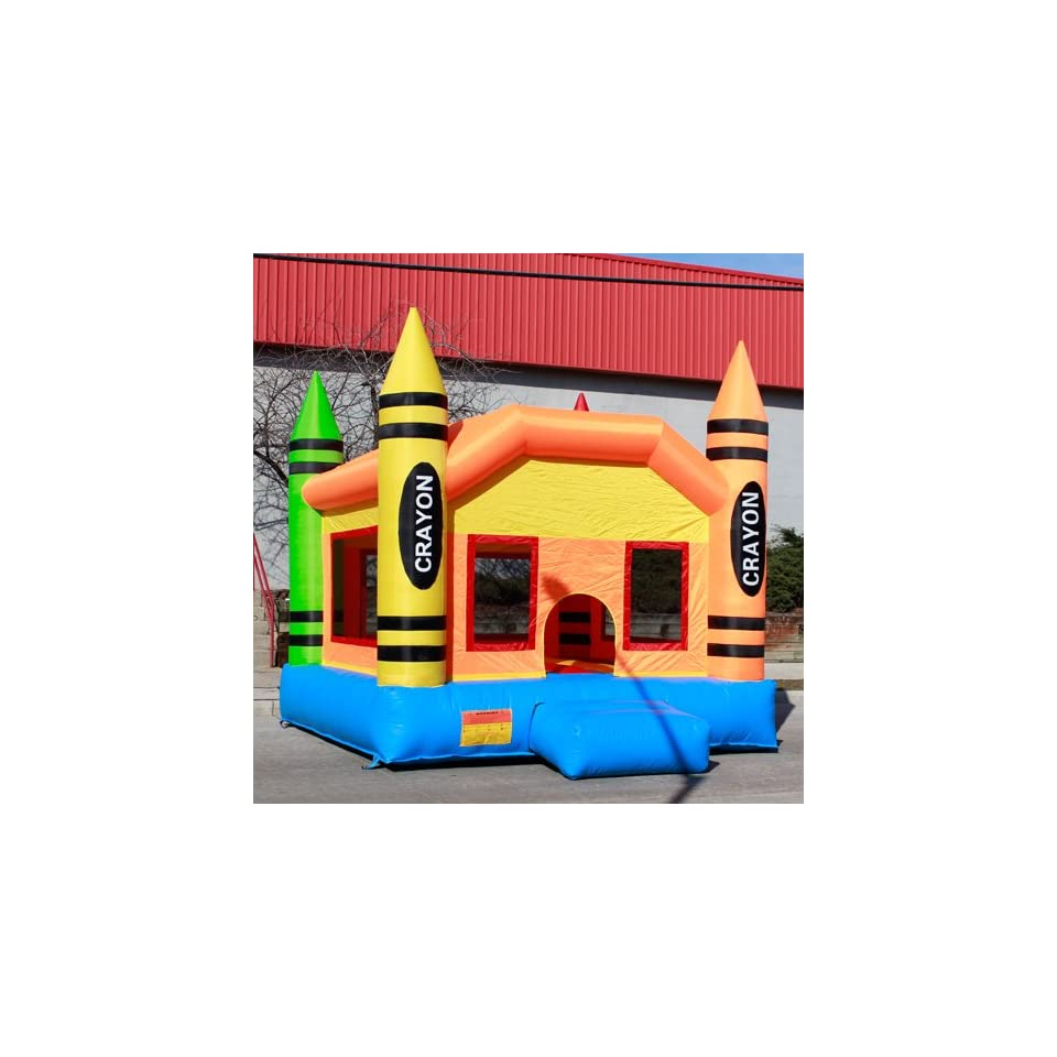 Crayon Commercial Bounce House Inflatable Bouncer Jumper Moonwalker With Blower