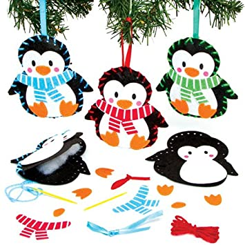 Nahset Fur Pinguin Anhanger Fur Kinder Zum Basteln Und Als