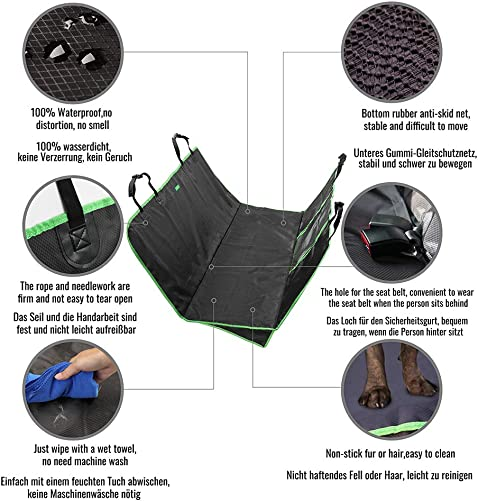 YLONG Pet Car Seat Covers – Cover Protector Car Rear Back Seat, Professional Dog Hammock for Backseat with Mesh Window, Dog Blanket for Car Back Seat – Waterproof Nonslip Rubber