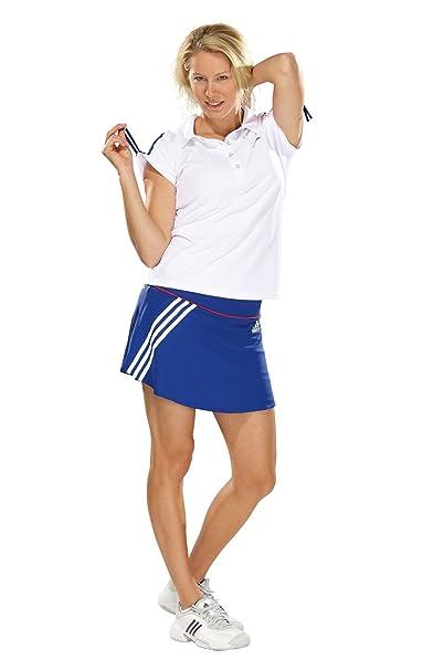 Adidas - Falda de pádel para mujer, tamaño L, color prime negro azul/core energy: Amazon.es: Ropa y accesorios