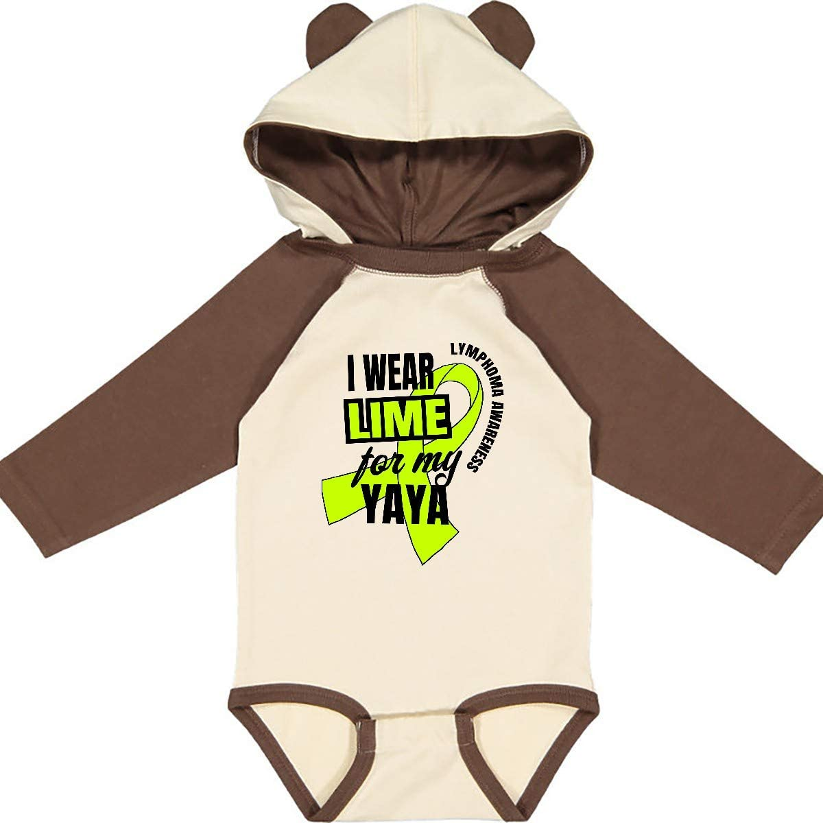 inktastic I Wear Lime for My Yaya Lymphoma Awareness Long Sleeve Creeper