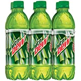 Mountain Dew, Bottles (6 count, 16.9 oz each)
