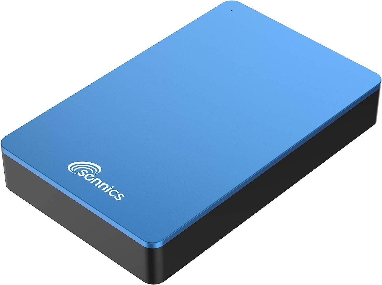 Sonnics - Disco Duro Externo para Ordenador de sobremesa (USB 3.0, Compatible con Windows PC, Mac, Smart TV, Xbox One y PS4) Azul 2 TB: Amazon.es: Informática