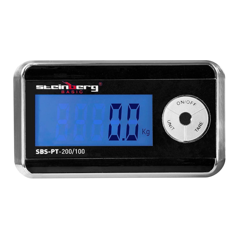 200//100 -B/áscula para paqueter/ía digital Steinberg BASIC Env/ío Gratuito 200 kg // 100 g PT Basic SBS LCD externo